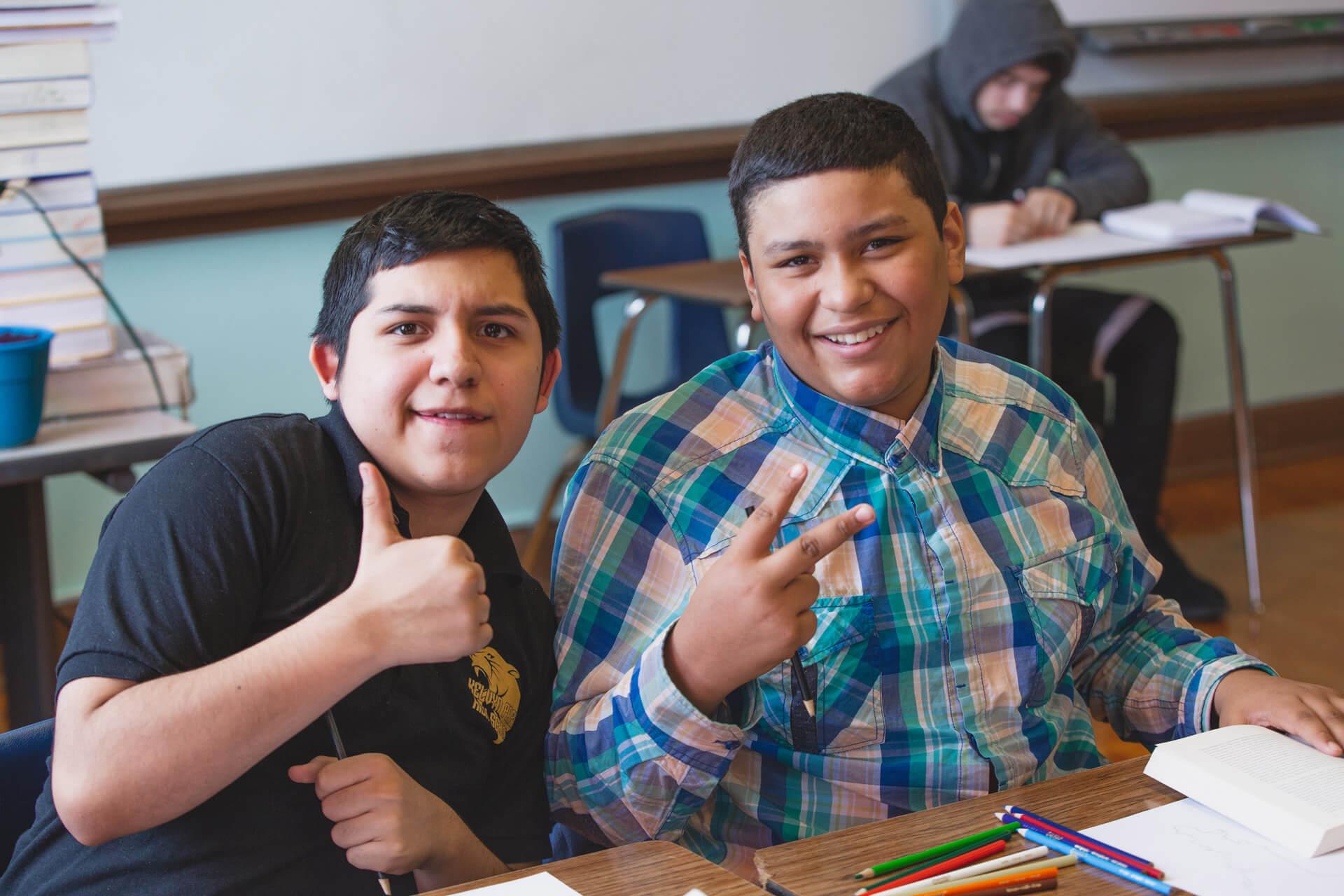 Kelvyn Park Students In Class