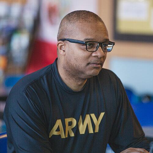 Kelvyn Park JROTC Instructor First Sargent Leonard Haith
